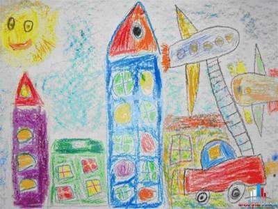 Детские рисунки карандашом про весну