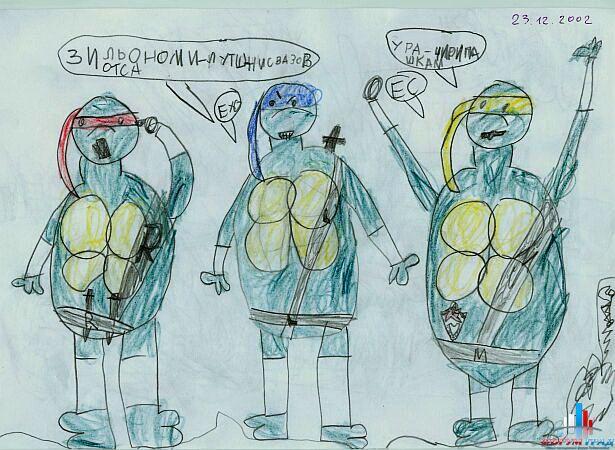 Детские рисунки зимы карандашом картинки