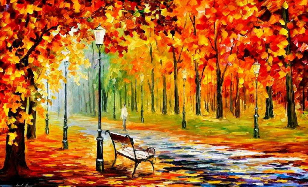 листьев осень рисунки на