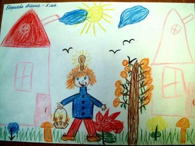 Мама с ребенком рисунок 8 лет